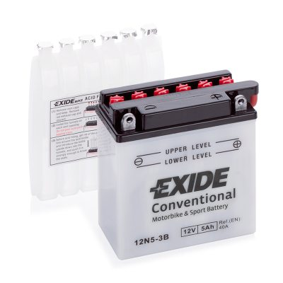 MC-batteri 4517 EXIDE MC 12N5-3B 5Ah 40A(EN) i gruppen BATTERIER / BIL & MC / MC BATTERIER hos TH Pettersson AB (32-4517)