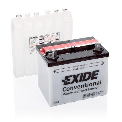 MC-batteri 4934 EXIDE MC U1-9 24Ah 240A(EN) i gruppen BATTERIER / BIL & MC / MC BATTERIER hos TH Pettersson AB (32-4934)