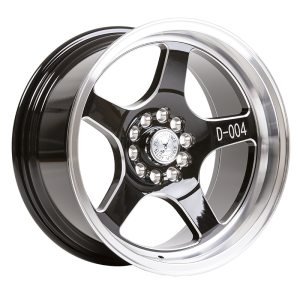59° North Wheels D-004  8,5x17 5x100/5x108 ET10 CB 73,1 Wheel Gloss Black Champer/Polished Lip