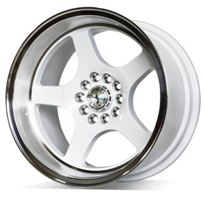 59° North Wheels D-004  9,5x18 5x100/5x108 ET20 CB 73,1 Wheel Gloss White/Polished Lip