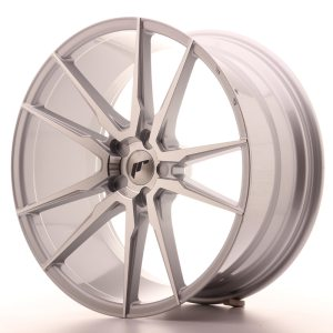 Japan Racing JR21 21x10 ET15-45 5H BLANK Silver Machined