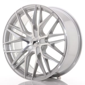 Japan Racing JR28 21x9 ET15-45 5H BLANK Silver Machined