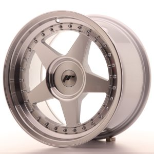 Japan Racing JR6 17x9 ET20-35 BLANK Machined Silver