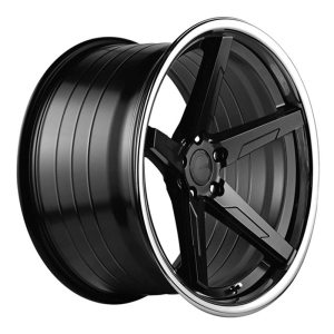 ABS Wheels F55 9x20 ET35 Black / Silver Lip
