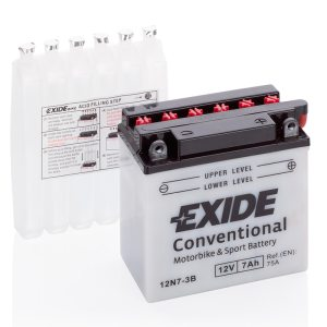 MC-batteri 4560 EXIDE MC 12N7-3B 7Ah 75A(EN)