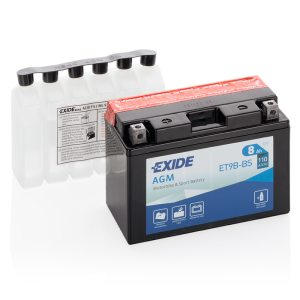 MC-batteri 4903 EXIDE MC ET9B-BS 8Ah 110A(EN)