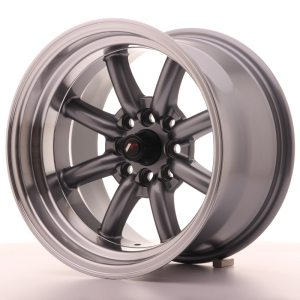 Japan Racing JR19 15x9 ET-13 4x100/114 Gun Metal