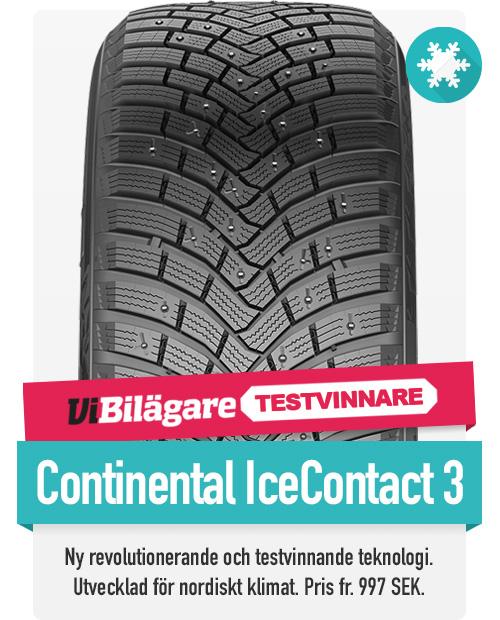 Continental Ice Contact 3 dubbdäck, vinnaren av Vi Bilägares vinterdäckstest till riktigt bra pris hittar du hos th-pettersson.se