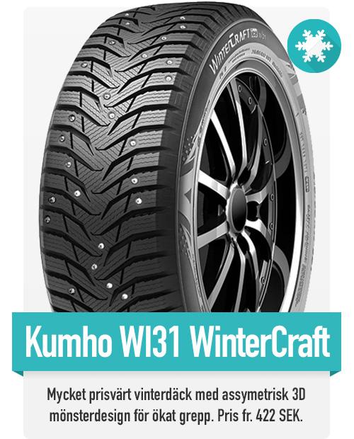 Bästa budget vinterdäcket på marknaden, Kumho Wi31 ger dig ökat grepp och kortare bromssträcka än andra däck i samma prisklass