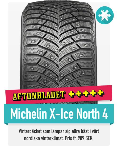 Michelin X-ice north 4 vinnaren i Aftonbladets vinterdäcktest 2019, till marknadens bästa pris