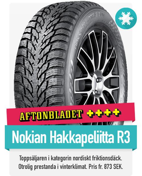 Nokian Hakkapeliitta R3 till riktigt bra priser hittar du hos th-pettersson.se
