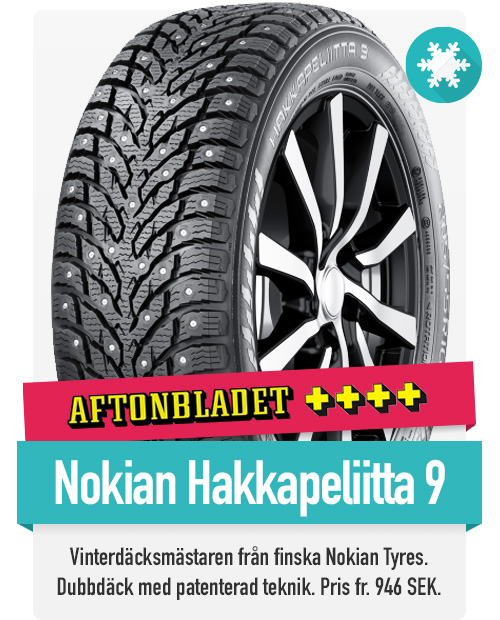 Nokian Hakkapeliitta 9 till riktigt bra priser hittar du hos th-pettersson.se