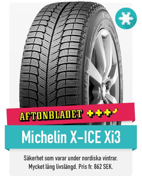 Michelin Xi3 är ett friktionsdäck för den nordiska vintern med lång hållbarhet och god ekonomi